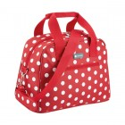 Coolmovers Red Polka 11.5 Litre Holdall Style Cool Bag