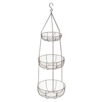 Kitchen Craft Wire 3 Tier Hanging Storage Baskets