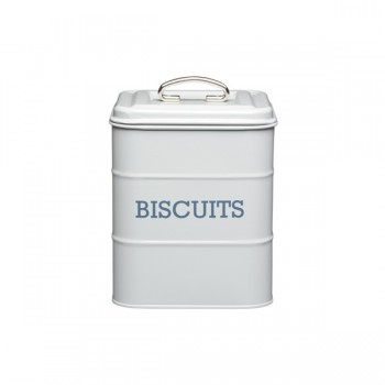 Living Nostalgia Biscuit Tin - French Grey