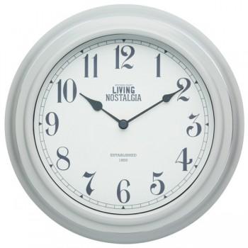 Living Nostalgia Wall Clock - French Grey