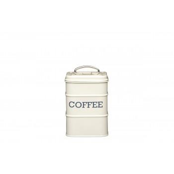 Living Nostalgia Coffee Tin - Antique Cream