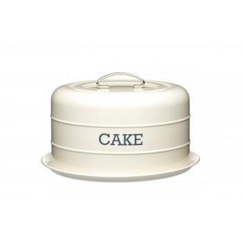 Living Nostalgia Domed Cake Tin - Antique cream