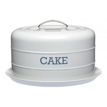 Living Nostalgia Domed Cake Tin - French Grey