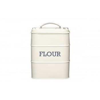 Living Nostalgia Flour Tin - Antique Cream