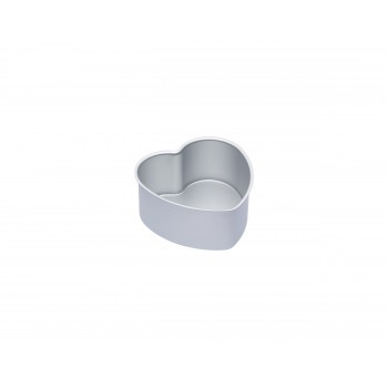 Master Class Silver Anodised Loose Base heart Tin - 15cm
