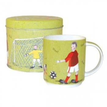 Alex Clark Football Mug in Tin