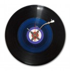Vinyl Clock -  Black & Blue