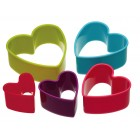 Kitchen Craft Five Piece Heart Shape Cookie Cutter Set