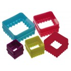 Kitchen Craft Square Five Piece Cookie Cutter Set