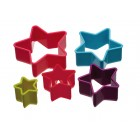 Kitchen Craft Five Piece Star Cookie Cutter Set
