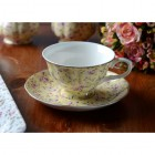Katie Alice Fine Bone China Yellow Ditsy Floral Afternoon Tea Set