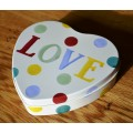 Emma Bridgewater Polka Dot Small Heart Tin
