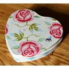 Emma Bridgewater Rose & Bee Small Heart Tin