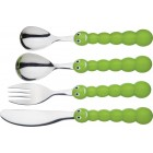 Let's Make Children's Stainless Steel Caterpillar Cutlery Set
