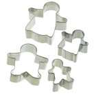 Let's Make Set of Four Stainless Steel Gingerbread Cutters