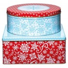 Let It Snow Set Of 3 Cake Tins