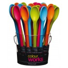 Colourworks Traditional Silicone Covered 30cm Cooking Spoon