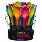 Colourworks Traditional Silicone Covered 22cm Spoon