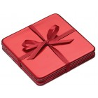 Let It Snow Set of Four Red Laquer Coasters