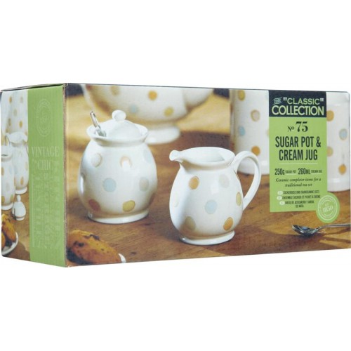Kitchen craft classic collection sugar pot cream jug for Kitchen craft cookware prices