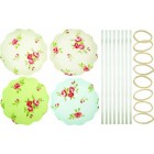 Home made Pack of Eight Floral Patterned Fabric Jam Cover Kits
