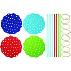 Home made Pack of Eight Polka Dot Patterned Fabric Jam Cover Kit