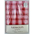 "Peggy Wilkins Home Comforts Red Cotton Tablecloth 52"" x 70"""