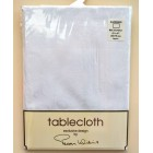 Peggy Wilkins Happiness White Tablecloth