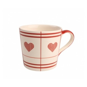 Colonial Home Red Heart Mug