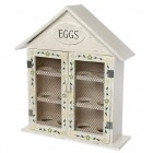 Hand Painted Wooden Egg House For 12 Eggs