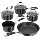 Stellar 3000 Black Induction 5pc Saucepan Set