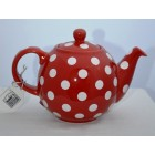 London Pottery Red & White Spot Globe Teapot  - 2 Cup