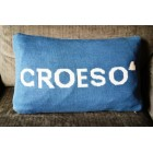 Croeso Blue & White Cushion