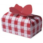 Red Gingham Cookie/Candy Gift Box