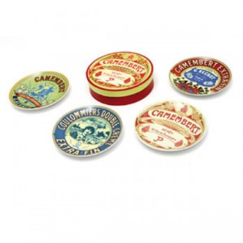 Camembert Plates - Set of Four