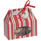 Red and Green Cookie Boxes with Handle
