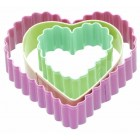 Sweetly Does It Set of Three Heart Shaped Cookie Cutters