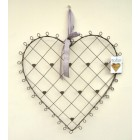 Tobs Grey Wire Heart Card / Photo Frame