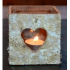 Tobs Birch Heart Box Candleholder