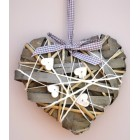 Tobs Grey Willow & Wood Heart - Medium