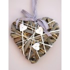 Tobs Grey Willow & Wood Heart - Small