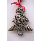 Tobs Grey Wicker Tree Decoration 20cm