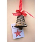 Tobs Grey Wicker Bell Decoration 5cm