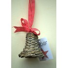 Tobs Grey Wicker Bell Decoration 7cm