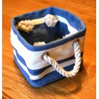 Tobs New England Cream & Blue Stripe Mini Storage Bag
