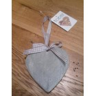 Tobs Grey Wooden Hanging Heart - Medium