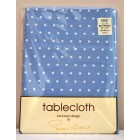 "Peggy Wilkins Coco Blue Cotton Tablecloth 52"" x 70"""