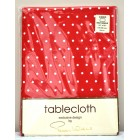 "Peggy Wilkins Coco Red Cotton Tablecloth 52"" x 70"""