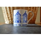 Blue Beach Huts Fine Bone China Mug