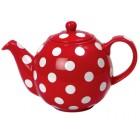 London Pottery Red & White Spot GlobeTeapot - 4 Cup